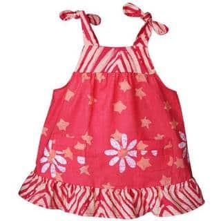 Global Mamas Handmade Baby Pocket Dress - Papaya Daisy Star (Ghana)|https://ak1.ostkcdn.com/images/products/11517605/P18467340.jpg?impolicy=medium