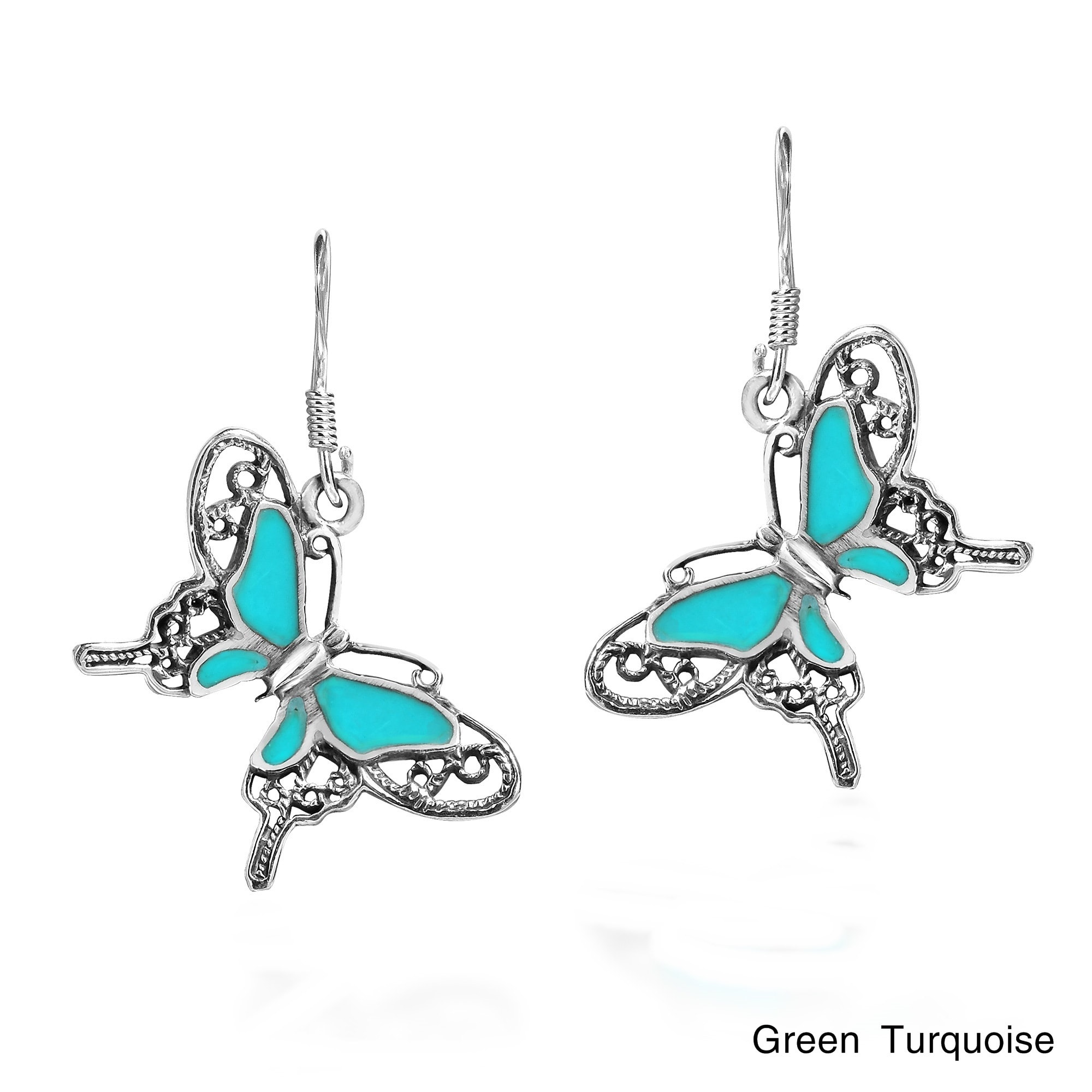 Multi Gemstone Sterling 925 SILVER Earring Chrysocolla white Pearl Earrings