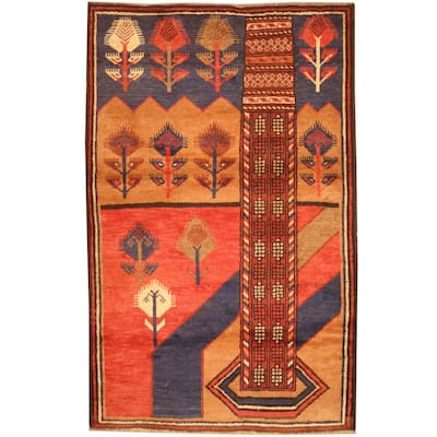 Handmade One-of-a-Kind Balouchi Wool Rug (Afghanistan) - 2'10 x 4'6