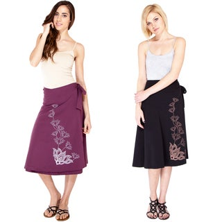 Wild Lotus Vine Organic Cotton Wrap Skirt (Nepal)
