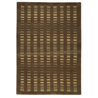 Hand-knotted Merano Brown Rug (4'6 x 6'6'')