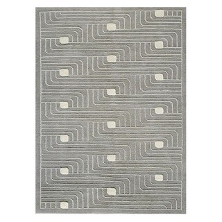 M.A.Trading Hand-knotted Verona Grey Rug (4'6 x 6'6'')