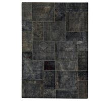 Hand-knotted Renaissance Dark Grey Rug (7'10 x 9'10)