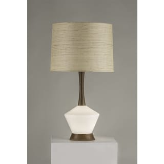 NOVA Rumba Collection Glass and Brown Wood Table Lamp