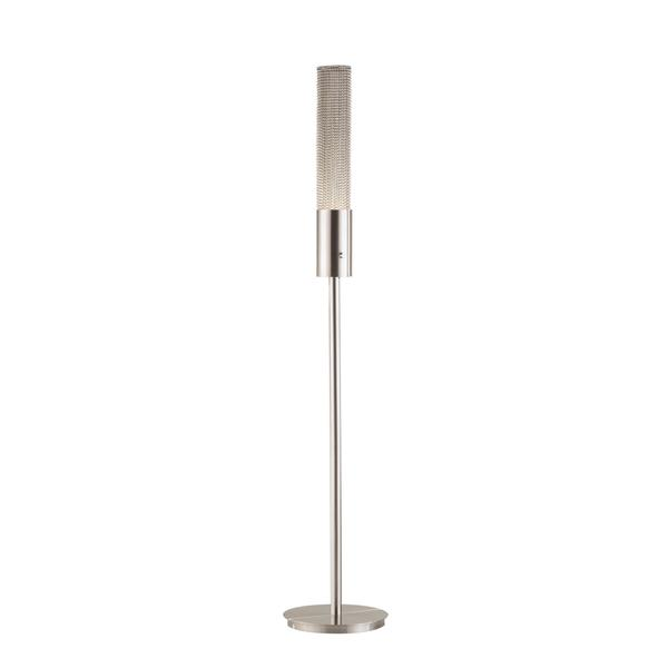 Bead Collection Modern Brushed Nickel Floor Lamp