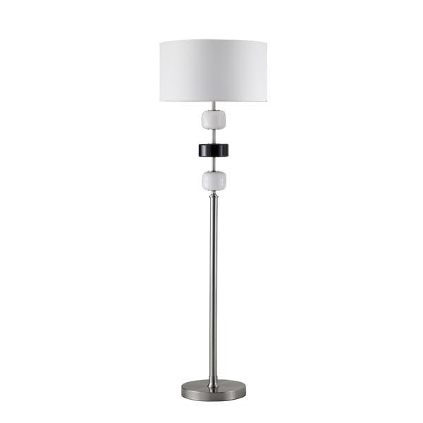 Adorn Modern Brushed Nickel Floor Lamp