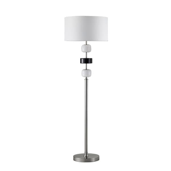 Adorn Modern Brushed Nickel Floor Lamp