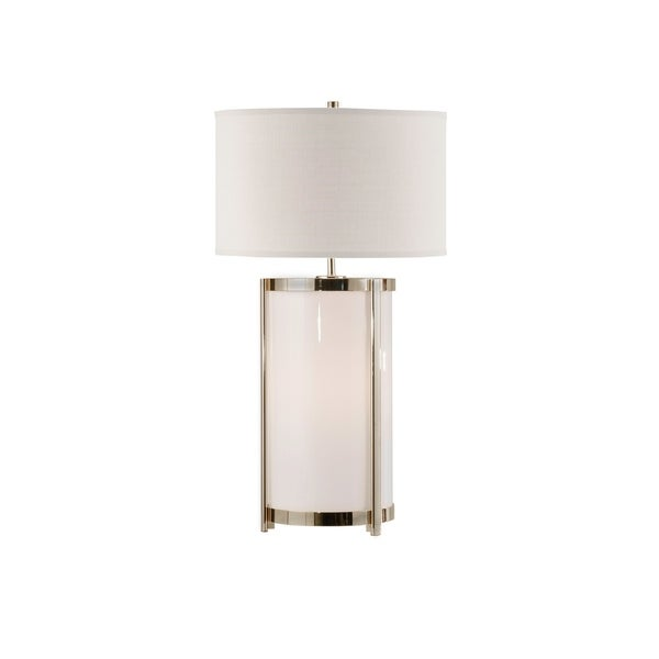 Hokkaido White and Linen Steel Table Lamp