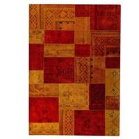 Handmade Renaissance Red/ Orange Rug - 7'10 x 9'10 (India)