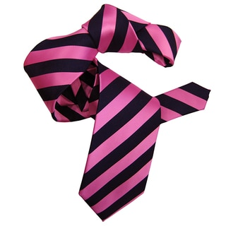 Dmitry Men's Pink Striped Italian Silk Tie