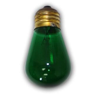 Medium Size Green Light Bulb - S14 - 11 Wattages - 12 Pack - E26