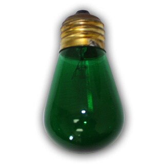 Medium Size Green Light Bulb - S14 - 11 Wattages - 12 Pack - E26