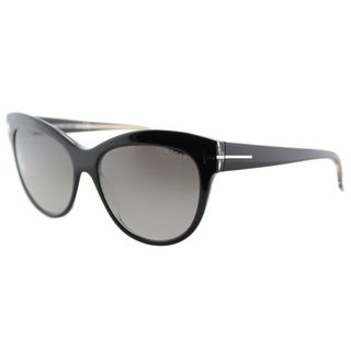 Tom Ford Lily TF 430 05D Black Cat-Eye Plastic Sunglasses