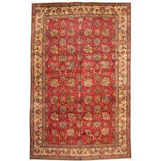 Herat Oriental Persian Hand-knotted 1960s Semi-antique Tabriz Wool Rug (10' x 15'4)