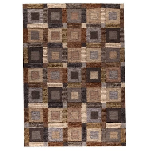 Handmade M.A.Trading Indo Big Box Rug (India)