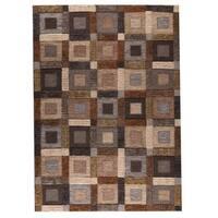 Handmade M.A.Trading Big Box Grey Rug (8'3 x 11'6) (India)