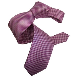 Dmitry Men's Pink Italian Patterned Silk Tie