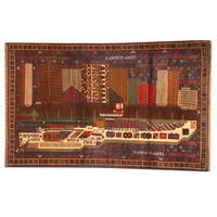 Herat Oriental Afghan Hand-knotted 1960s Semi-antique Tribal Balouchi Wool Rug (2'10 x 4'8) - 2'10 x 4'8