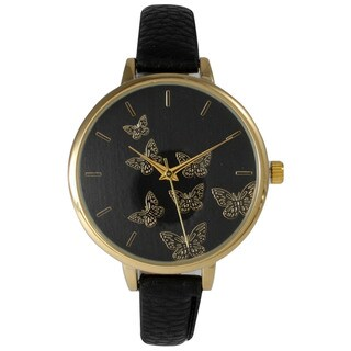 Olivia Pratt Women's Petite Goldtoneen Butterflies Watch