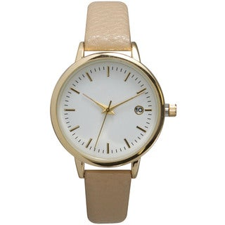 Olivia Pratt Women's Classic Collection Petite Genuine Leather Watch