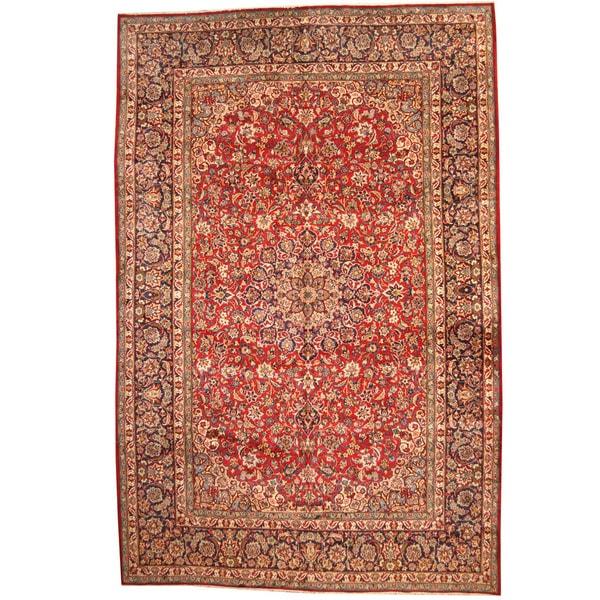 Handmade Herat Oriental Persian 1960s Semi-antique Isfahan Wool Rug - 10'10 x 16'10 (Iran)