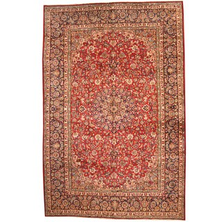 Herat Oriental Persian Hand-knotted 1960s Semi-antique Isfahan Wool Rug (10'10 x 16'10)