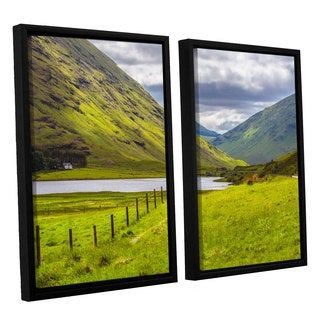 ArtWall Steve Ainsworth's 'At Home In The Mountains' 2-piece Floater Framed Canvas Set