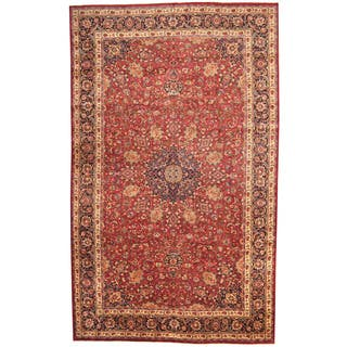 Herat Oriental Persian Hand-knotted 1970s Semi-antique Mashad Wool Rug (9'10 x 16'2)|https://ak1.ostkcdn.com/images/products/11517835/P18467528.jpg?impolicy=medium