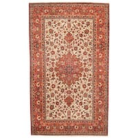 Herat Oriental Persian Hand-knotted 1960s Semi-antique Isfahan Wool Rug (10' x 17'1) - 10' x 17'1