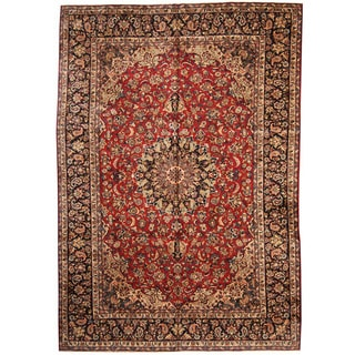 Herat Oriental Persian Hand-knotted 1960s Semi-antique Isfahan Wool Rug (10' x 14'10)