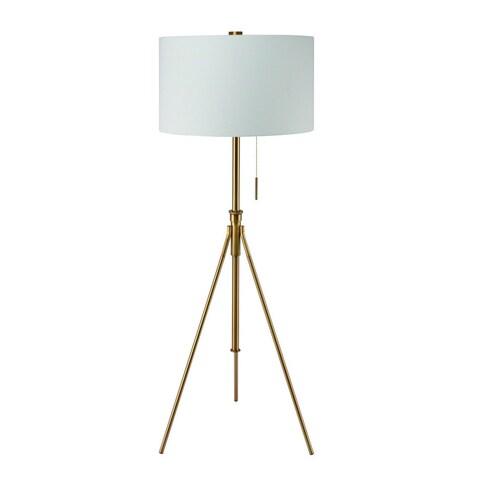 "Mid-Century Adjustable Tripod Matte Gold 58""-72"" Floor Lamp"