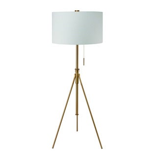 "Mid-Century Adjustable Tripod Matte Gold 58""-72"" Floor Lamp"