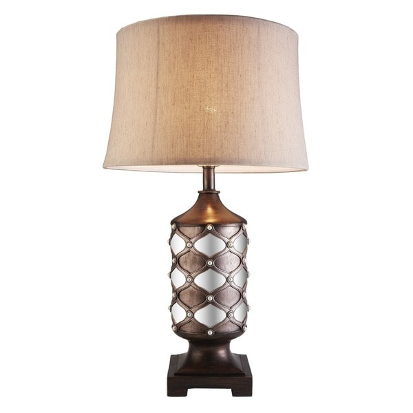 "Arabesque Espresso Mirror 29.5"" Table Lamp"