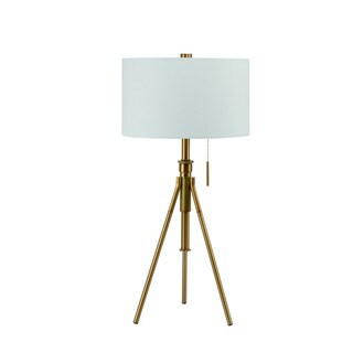 "Mid-Century Adjustable Tripod Matte Gold 32.5""-37.5"" Table Lamp"