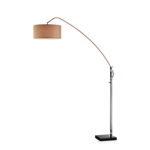 "Avant Arc Copper/Gun Metal 62"" Floor Lamp"