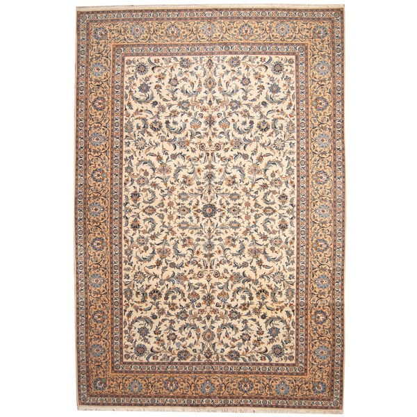 Persian Hand Knotted Kashan Silk And Wool Area Rug Ebth: Herat Oriental Persian Hand-knotted 1940s Semi-antique