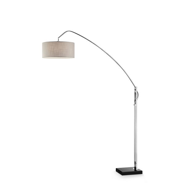 "Avant Modern Brushed Nickel 78.5"" Floor Lamp"