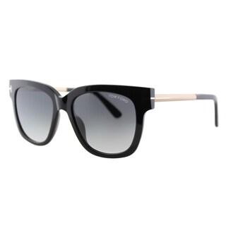 Tom Ford Tracy TF 436 01B Black Square Plastic Sunglasses