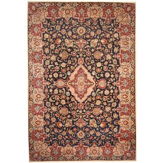 Herat Oriental Persian Hand-knotted 1960s Semi-antique Isfahan Wool Rug (10' x 15'2)
