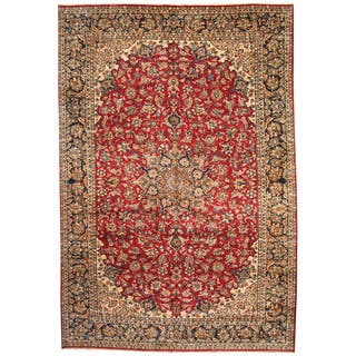 Herat Oriental Persian Hand-knotted 1960s Semi-antique Isfahan Wool Rug (10'2 x 15')|https://ak1.ostkcdn.com/images/products/11517884/P18467576.jpg?impolicy=medium