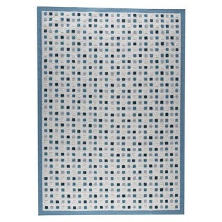 M.A.Trading Hand-woven Khema1 Turquoise Rug (8'3 x 11'6) (India)