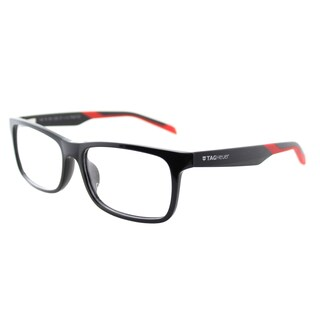 TAG Heuer TAG 551 006 Shiny Black Red Plastic Rectangle 57mm Eyeglasses
