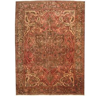 Herat Oriental Persian Hand-knotted 1940s Semi-antique Heriz Wool Rug (9'10 x 13'4)
