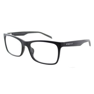 TAG Heuer TAG 554 001 Black Dark Grey Plastic Rectangle 56mm Eyeglasses