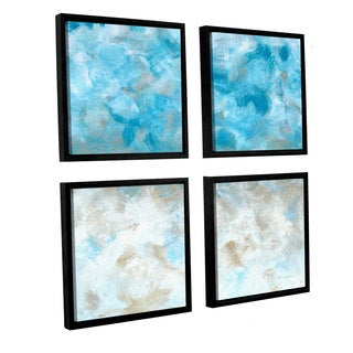 ArtWall Herb Dickinson's 'Above The Clouds' 4-piece Floater Framed Canvas Sqare Set