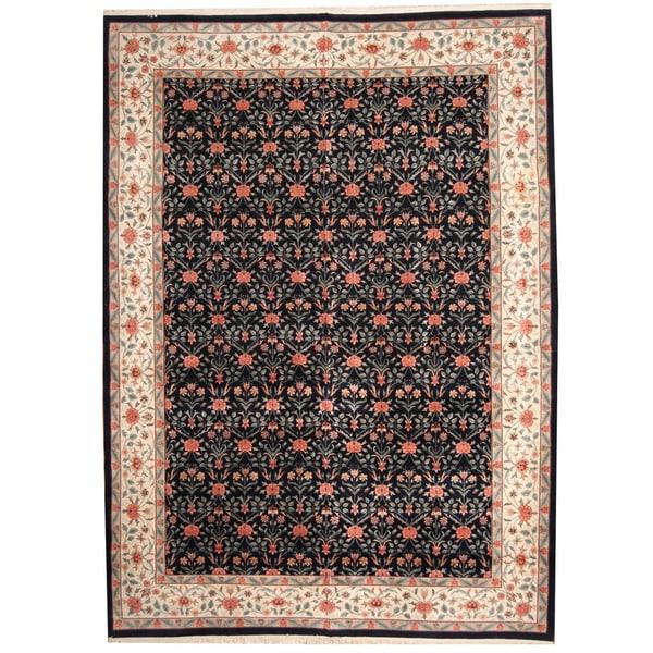 Herat Oriental Indo Persian Hand-knotted Tabriz Wool Rug (10' x 14')