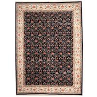 Handmade Herat Oriental Indo Persian Tabriz Wool Rug - 10' x 14' (India)