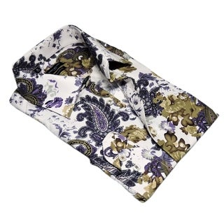Rosso Milano Paisley Floral Dress Shirt