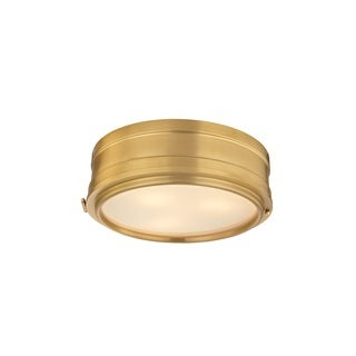 Hudson Valley Rye 14 inch Aged Brass Flush Mount