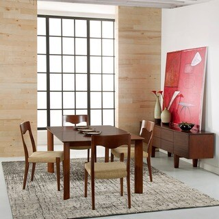 Saloom Ari 36 x 60 Rectangular Maple Smooth Top Dining Table in Walnut Finish